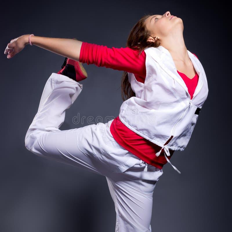 Danseuse de femelle de type de Hip-hop images libres de droits