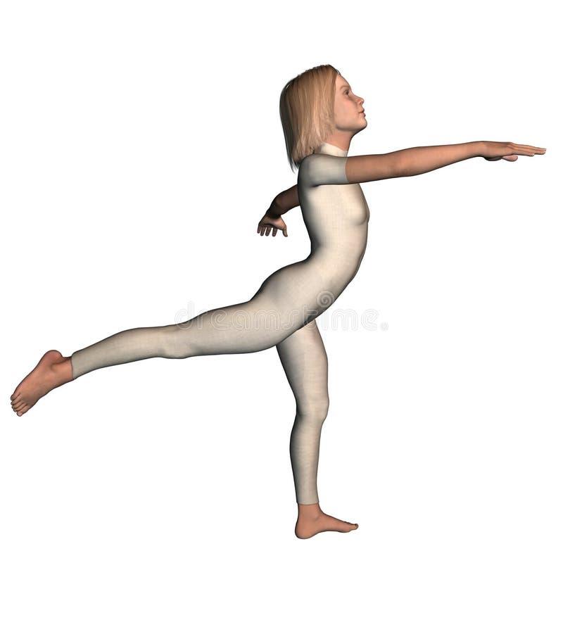 Danseuse de fille dans le collant de danseur 1 illustration de vecteur