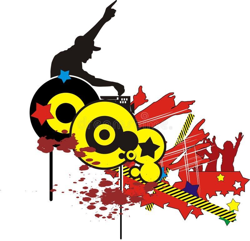 Dansez l'abstrait populaire illustration stock
