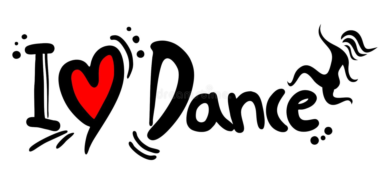 Dansförälskelse stock illustrationer