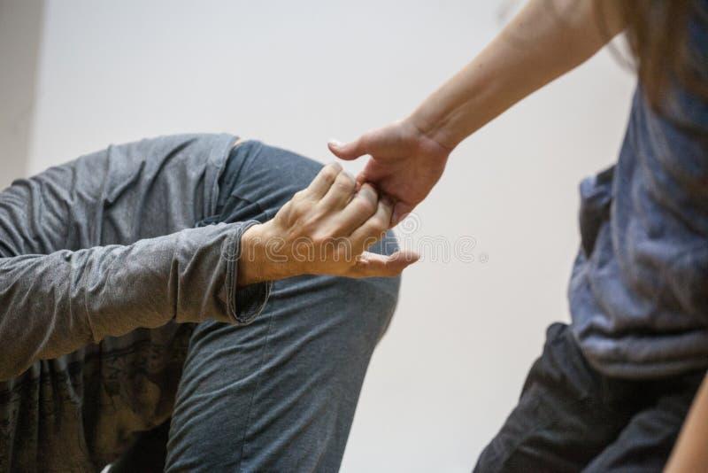 Danshand stock afbeeldingen