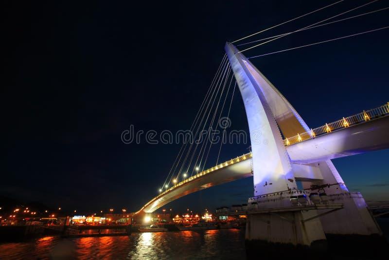 Danshui Fisher wharf lover bridge stock images