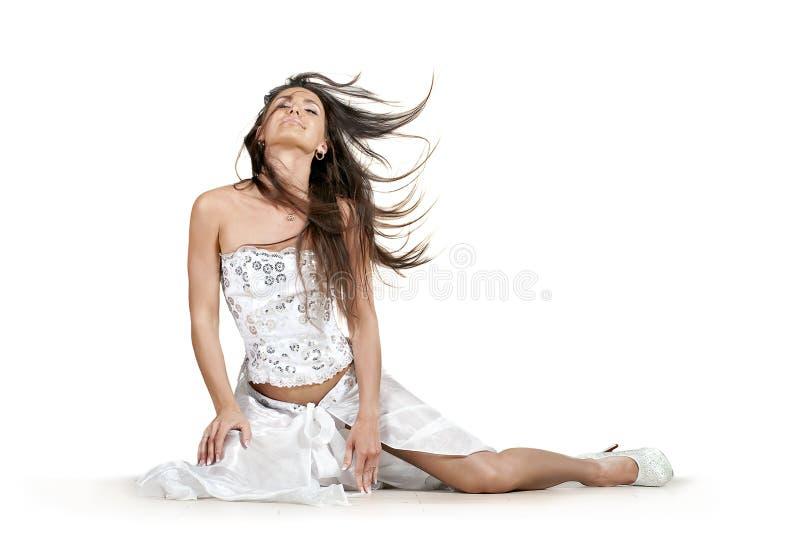 Download Dansing brunette woman stock image. Image of hair, people - 28486625
