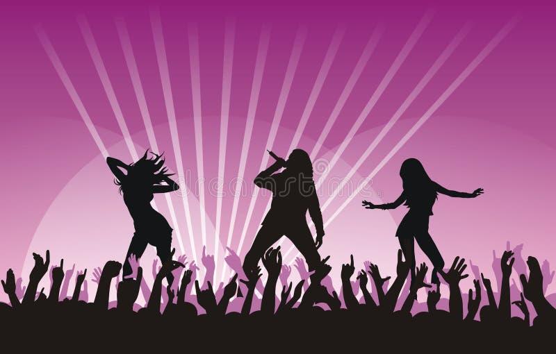 Dansing Girls Stock Image