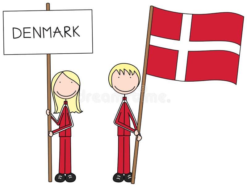 dansk flagga vektor illustrationer
