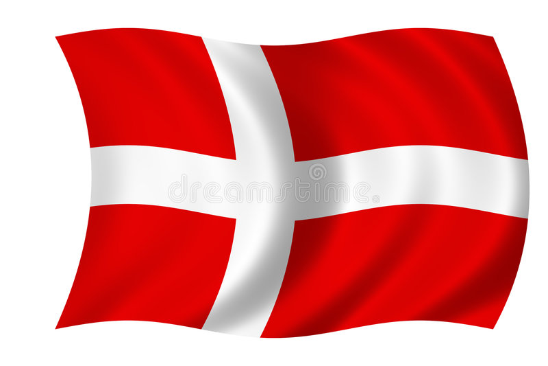 dansk flagga royaltyfri illustrationer