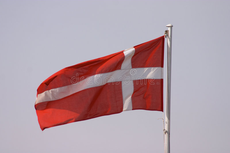 dansk flagga royaltyfri bild