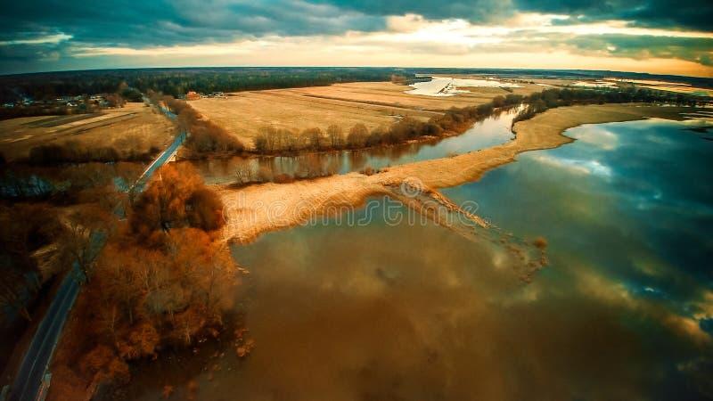 danska ölakes landscape litet tidvattens- wild wadden för naturhavet vatten royaltyfria foton