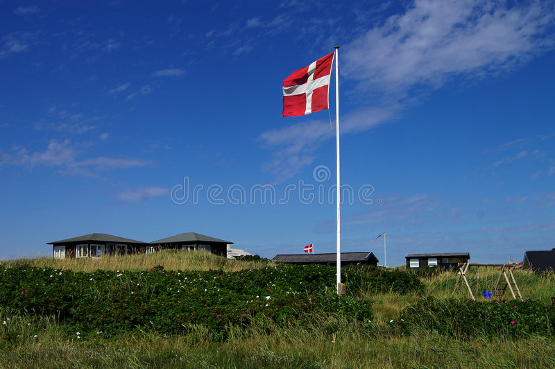 danska dyner arkivfoto