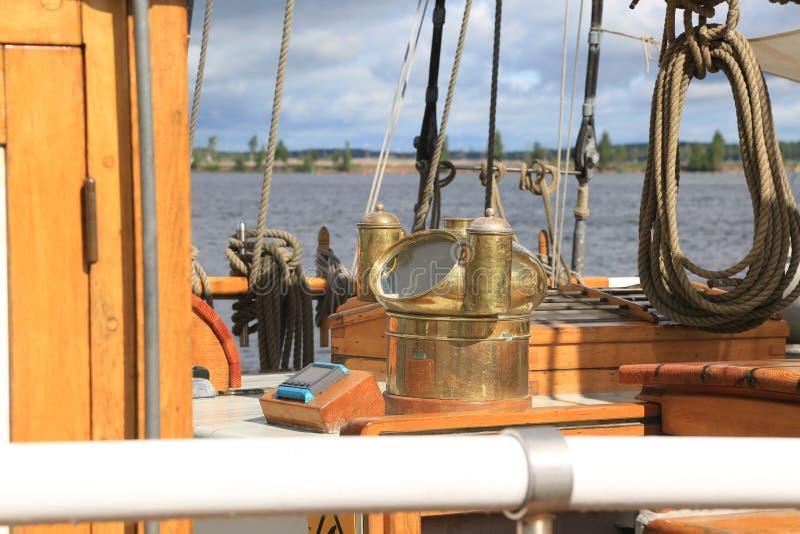 Danskan tre-masted skonaren Loa Nakterhus och annan utrustning arkivbilder