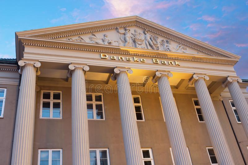 Danske Bank em Copenhaga imagens de stock royalty free