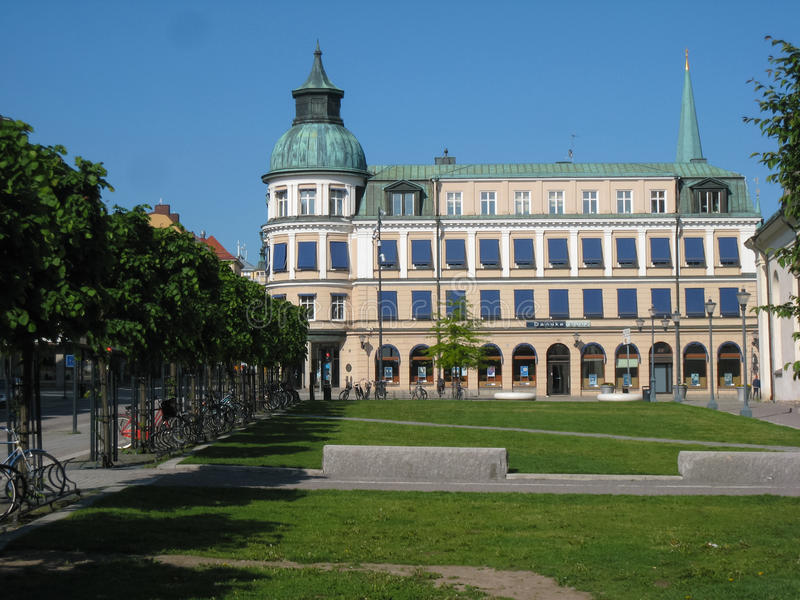 Danske Bank. Fasada. Linkoping. Szwecja obraz royalty free
