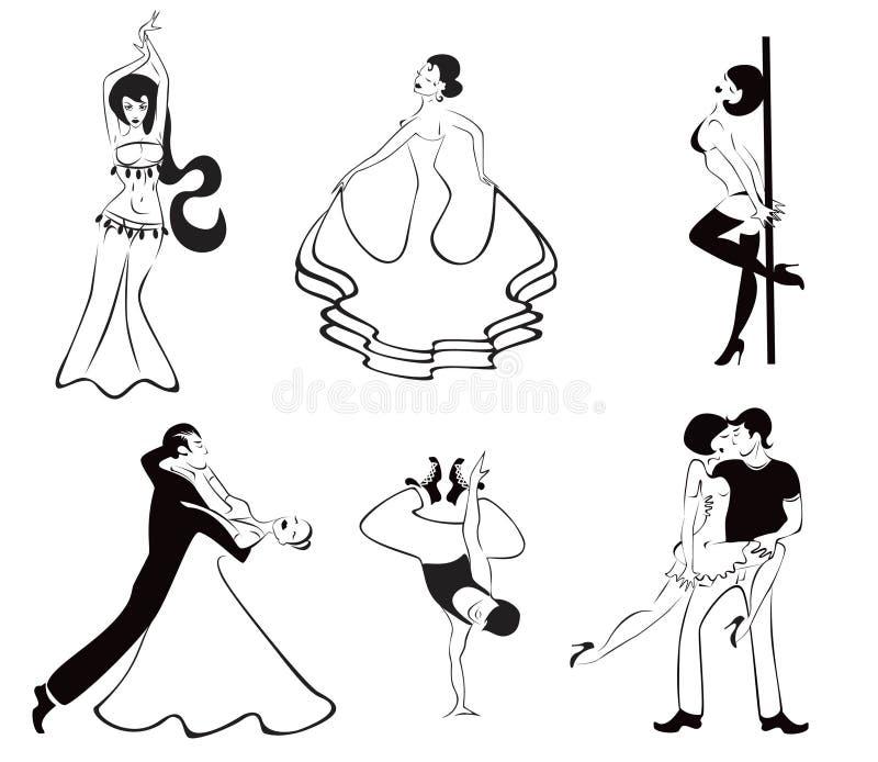 dansmajor sex vektor illustrationer
