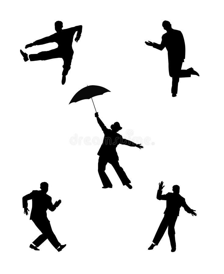 Dansmensen stock illustratie