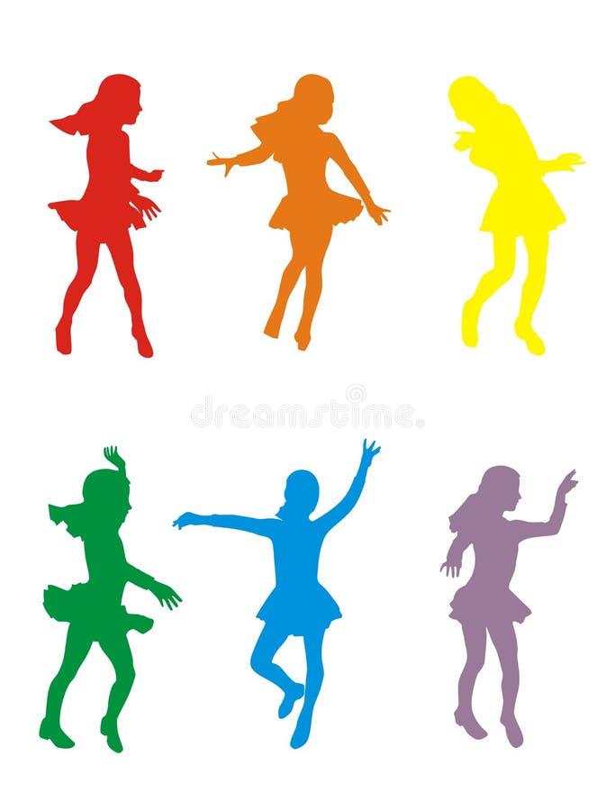 dansrörelse stock illustrationer