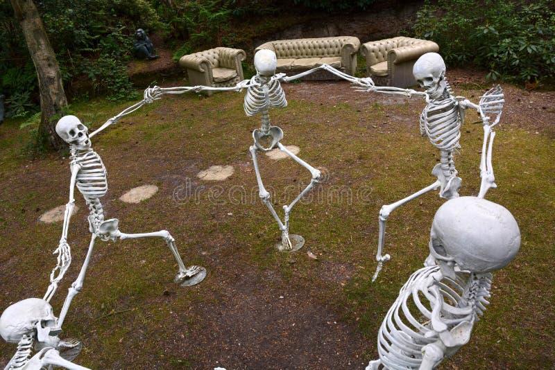 Dansskelett Skulptur av Wilfred Pritchard arkivbilder