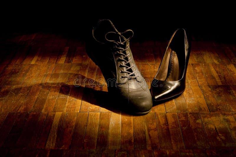 dansskodonförälskelse royaltyfri bild