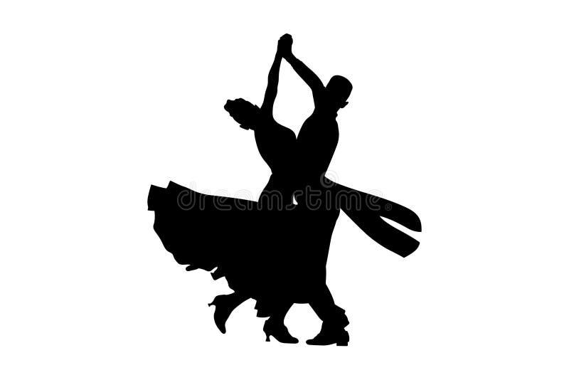Danssportsällskapsdans vektor illustrationer