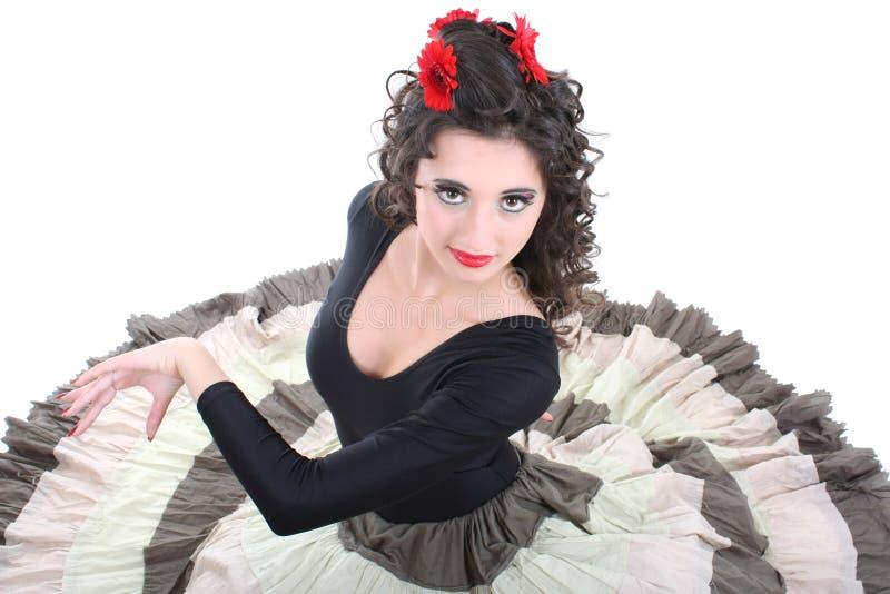 dansståendekvinna arkivbild