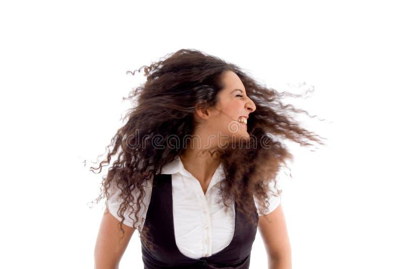 dansståendekvinna royaltyfri foto