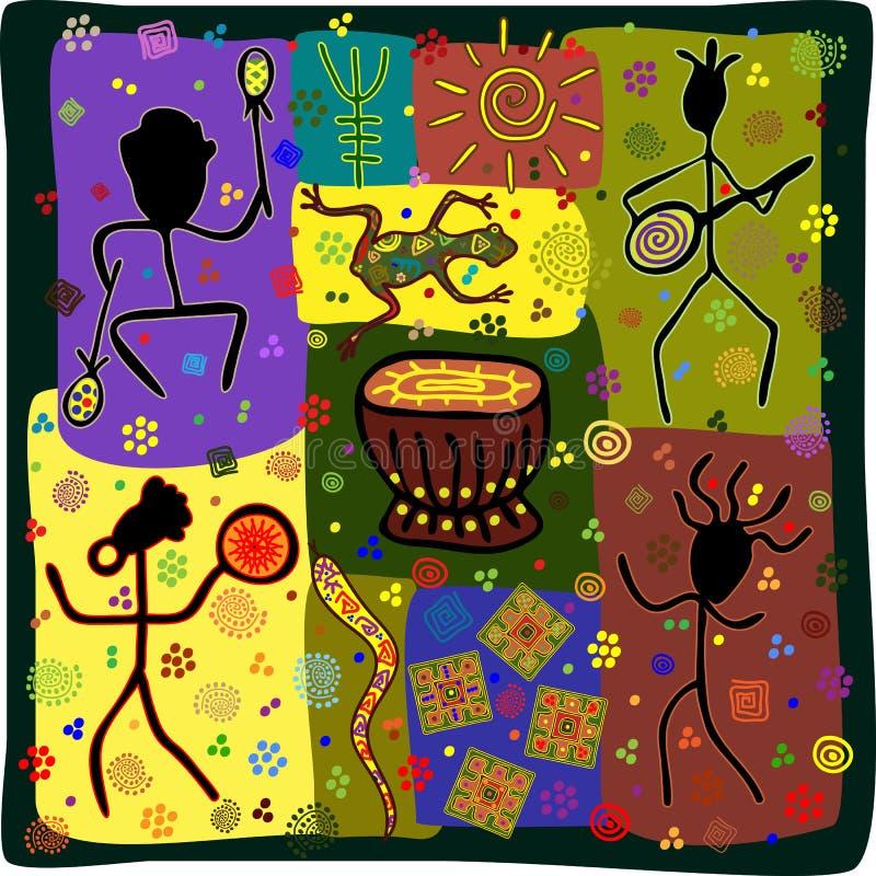 Dansstam royalty-vrije illustratie