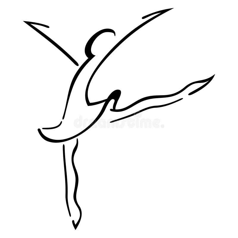 Danssymbol vektor illustrationer