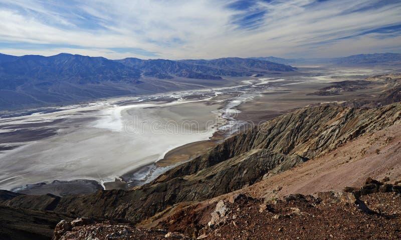Dante& x27; взгляд s, Death Valley стоковые изображения rf