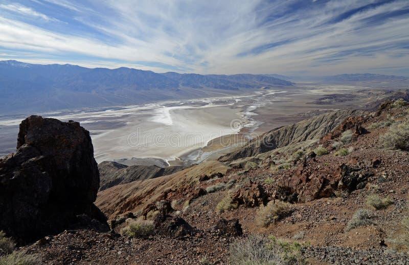 Dante& x27; взгляд s, Death Valley стоковое изображение rf