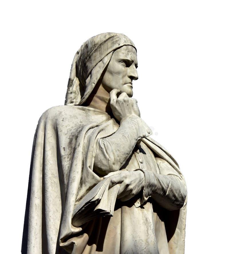 Dante Alichieri, большой итальянский поэт стоковые изображения rf