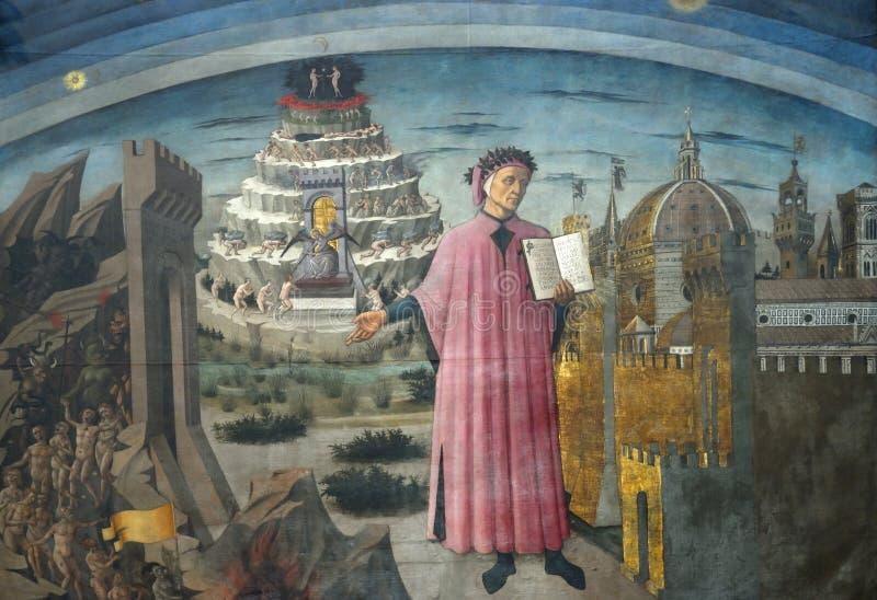 Dante Alighieri imagen de archivo libre de regalías