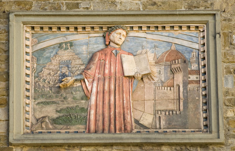 Dante alighieri. Divine comedy.The duome of florence royalty free stock images