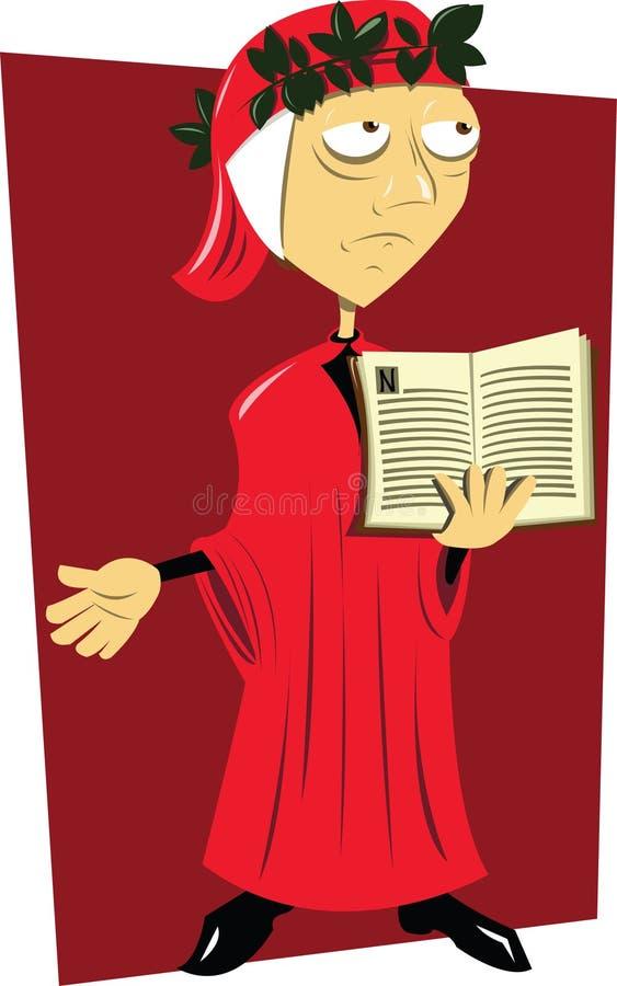 Dante Alighieri stock illustratie