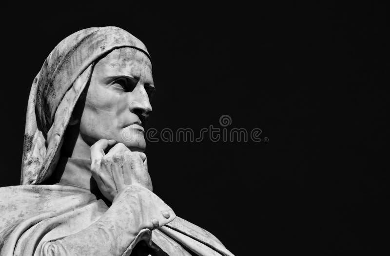 Dante Alighieri, de grootste Italiaanse dichter stock afbeelding