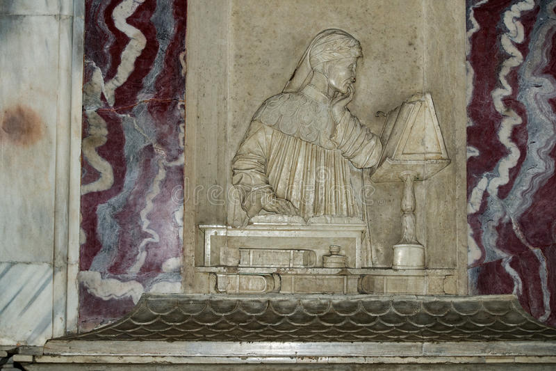 Dante Alighieri Italian-dichtersgraf in Ravenna stock foto's