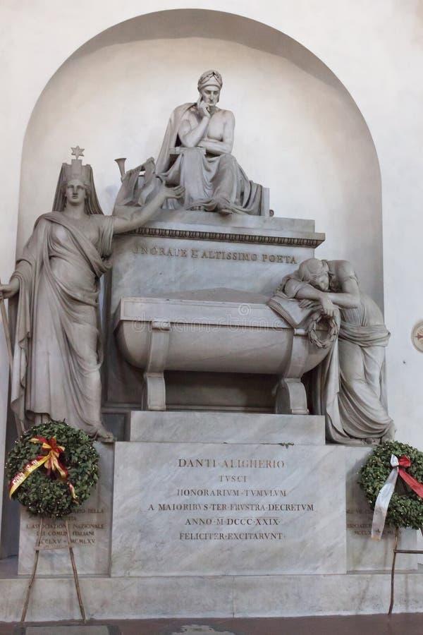 Dante Alighieri Tomb Basilica van Santa Croce - Florence stock fotografie