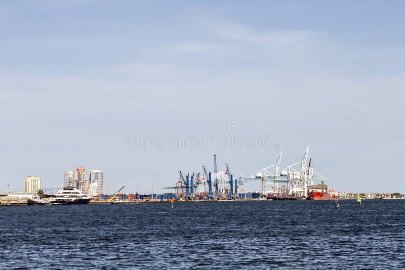 Dante B Fascell port av Miami arkivbild