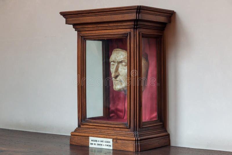 Dante dödmaskering arkivbilder
