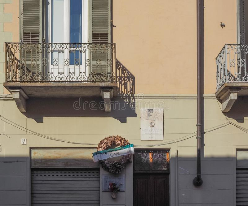 Dante di Nanni house in Turin royalty free stock photos