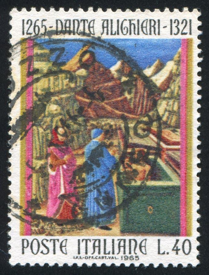 Dante in Hel stock afbeelding