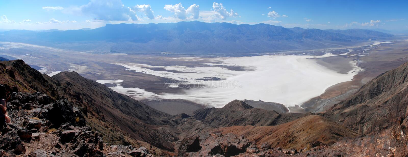 Dante`s View. View from Dante`s View over badwater in death valley stock photo