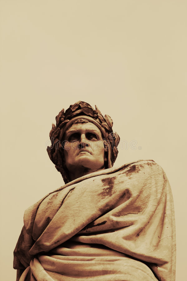 Download Dante Sculpture In Florence Stock Photo - Image: 9122188