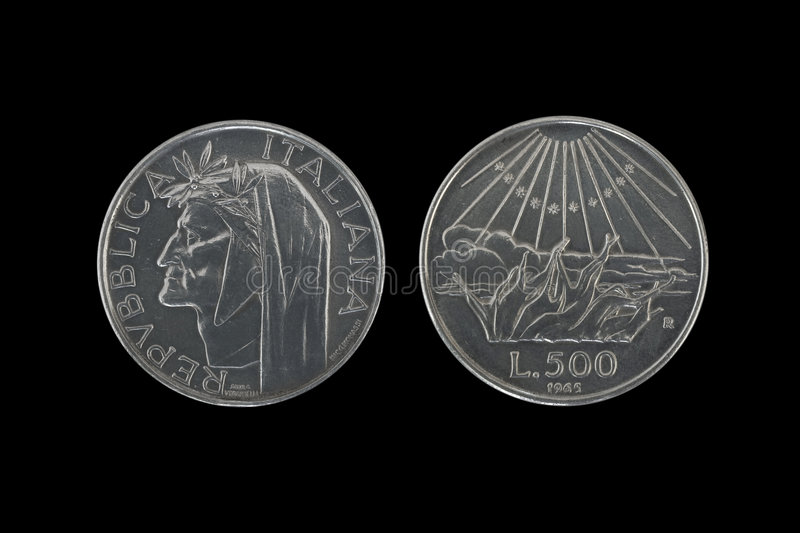 Download Dante silver coins stock image. Image of change, head - 7599933