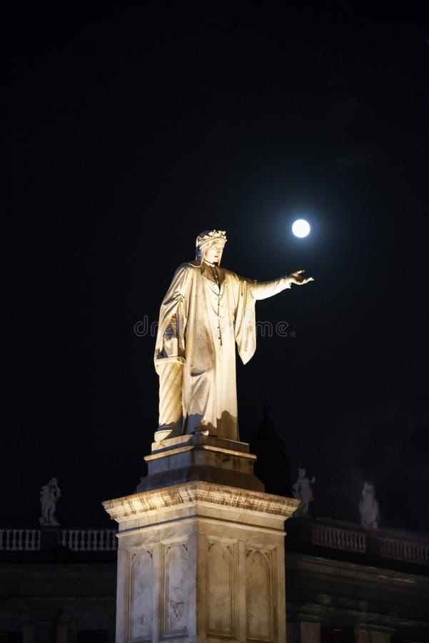 Dante w Napoli zdjęcie stock
