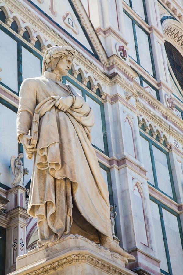 Dantestandbeeld stock foto's