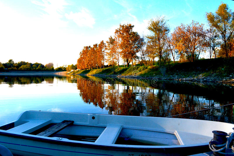 Danube and autumn royalty free stock image