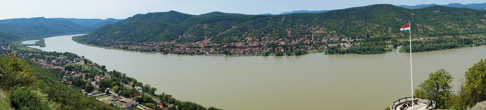 Danube bend. Landscape photo of part of the danube bend royalty free stock image