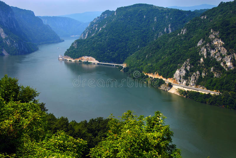 Danube canyon royalty free stock photos