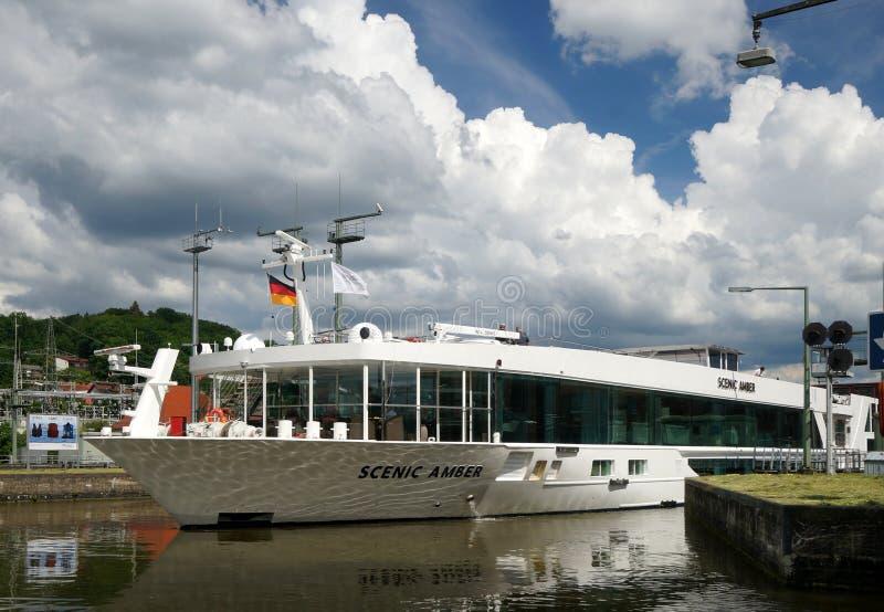Danube Cruise Ship stock photography