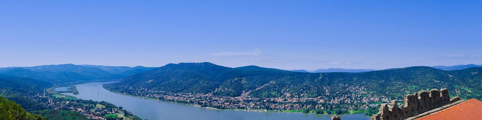 The Danube curve stock photography