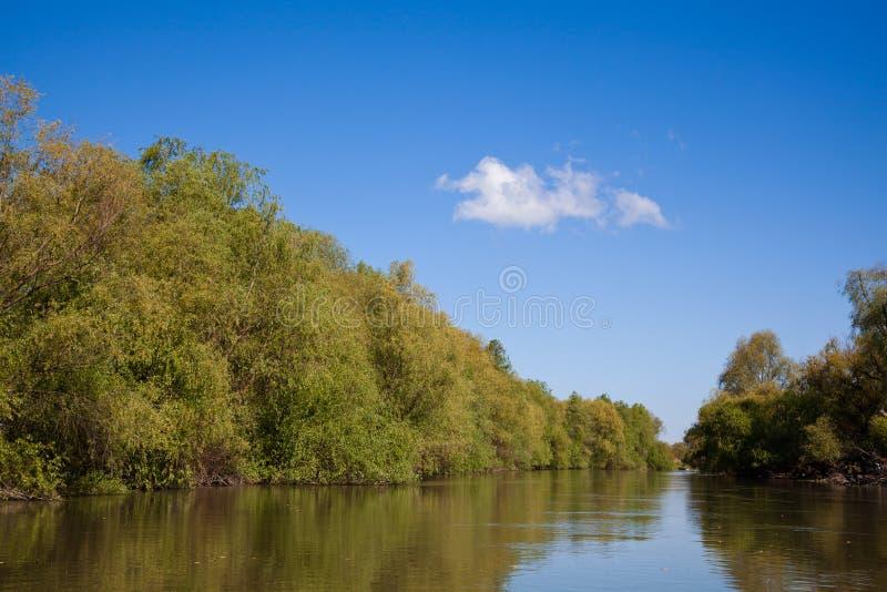 Danube Delta. Beautiful landscape from the Danube Delta Biosphere Reserve in Romania stock images